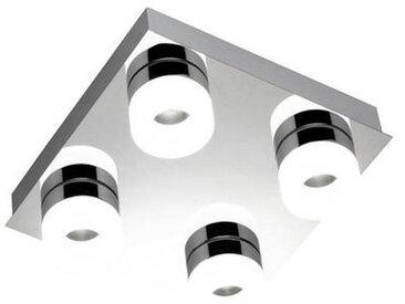 XXXLutz DECKENLEUCHTE, Chrom, Metall, Kunststoff, 26x9 cm