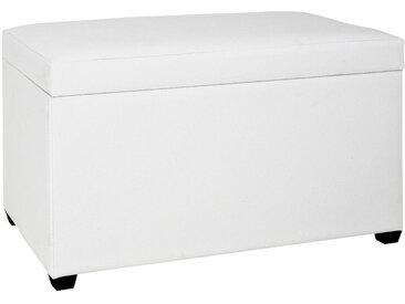 XXXLutz TRUHENBANK Weiß , Kunststoff, 65x42x40 cm