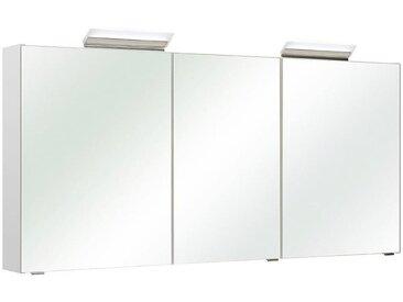 Xora SPIEGELSCHRANK Weiß , 6 Fächer, 147.0x70.0x16.0 cm