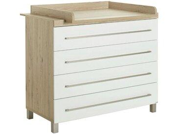 Paidi WICKELKOMMODE Lennox Braun , Weiß, Nachbildung, 110x94.9x55.9 cm