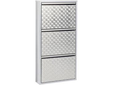 Kare-Design SCHUHKIPPER Grau , Metall, 50x103x14 cm