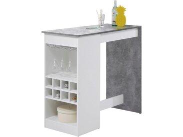 Livetastic: Tisch, Weiß, Hellgrau, B/H/T 50 104 115