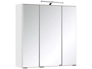 Xora SPIEGELSCHRANK Weiß , Glas, 6 Fächer, 60x64x20 cm