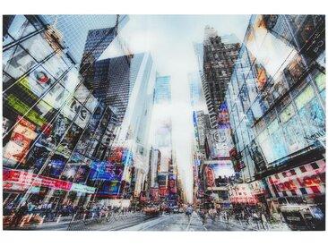 Monee GLASBILD Städte , Mehrfarbig, Glas, 120x80 cm
