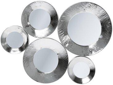 Kare-Design WANDSPIEGEL Grau , Metall, Glas, 62x46x3.5 cm