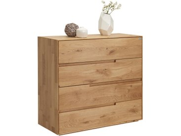 Valnatura KOMMODE Wildeiche massiv Braun , Holz, 99.5x91x42 cm