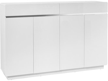 Xora SCHUHSCHRANK Weiß, Silber , 8 Fächer, 160.3x104.5x34.5 cm
