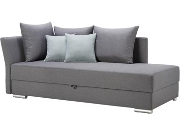 Livetastic LIEGE Webstoff Grau, Grün , 4-Sitzer, 220x93x100 cm