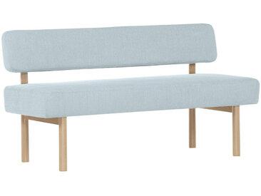 Livetastic SITZBANK Flachgewebe Buche massiv Blau , Holz, Uni, 2-Sitzer, 160x87x58 cm