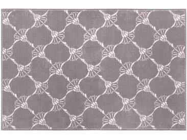 Joop! BADTEPPICH Grau 70/120 cm , Graphit, Grau, Floral, 70 cm