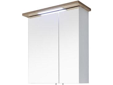 Xora SPIEGELSCHRANK Weiß, Braun , 2 Fächer, 60.0x72.0x20.0 cm