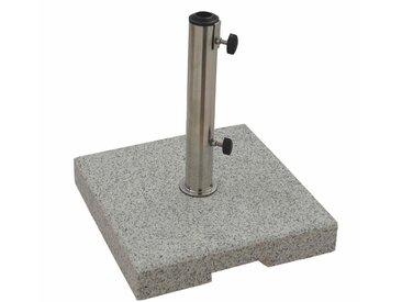 Doppler SONNENSCHIRMSTÄNDER Granit Grau , Stein, 38x7x38 cm