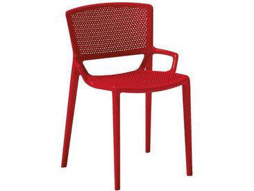 XXXLutz STAPELSTUHL Rot , Kunststoff, Uni, 53x78.3x55 cm