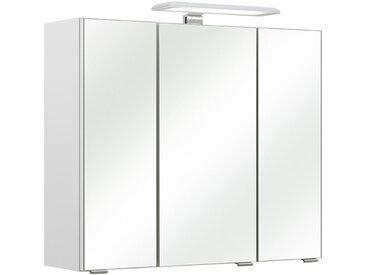Carryhome SPIEGELSCHRANK Weiß , 3 Fächer, 65x57x20 cm