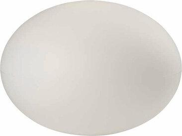 XXXLutz AUßENKUGELLEUCHTE, Weiß, Kunststoff, 41 cm