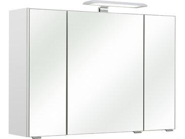 Carryhome SPIEGELSCHRANK Weiß , 3 Fächer, 80x57x20 cm