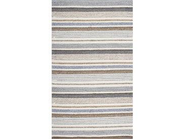 Linea Beigea Wollteppich 130/190 cm Braun , Streifen, 130 cm
