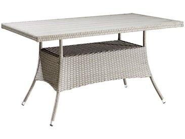 XXXLutz GARTENTISCH Metall, Kunststoff Grau , 85x74x150 cm