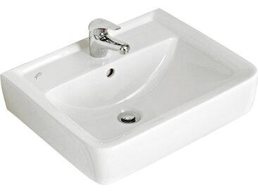 Xora WASCHBECKEN, Weiß, Keramik, 55x12x44 cm