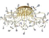 LED-DECKENLEUCHTE , Messing , Metall, Glas , 77 cm , LED Beleuchtung, LED Deckenleuchten