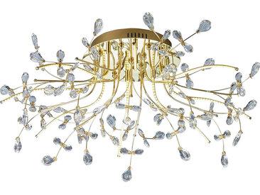 XXXLutz LED-DECKENLEUCHTE , Messing, Metall, Glas, 77 cm