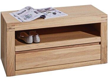 Linea Beigea GARDEROBENBANK Wildeiche furniert, massiv Braun , Holz, 85x43x37 cm