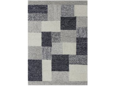 Linea Beigea Wollteppich 160/230 cm Grau , 160 cm