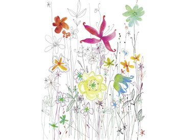 Komar VLIESTAPETE Joli , Mehrfarbig, Papier, Floral, 184x248 cm
