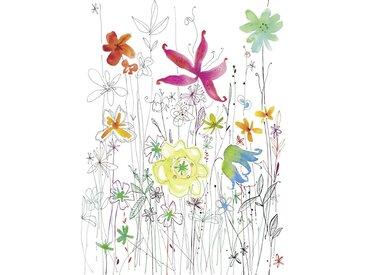 XXXLutz VLIESTAPETE , Mehrfarbig, Papier, Floral, 184x248 cm
