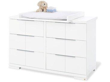 XXXLutz WICKELKOMMODE Pinolino Polar Weiß , 140x98x78 bzw 55 cm