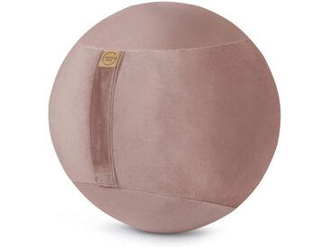 XXXLutz SITZBALL Samt Uni Grau , Rosa, 145 L