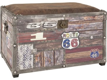 Carryhome TRUHE Textil , Braun, Mehrfarbig, Kupfer, 65x42x40 cm