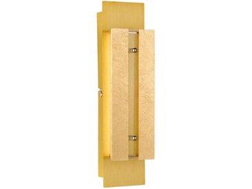 XXXLutz LED-WANDLEUCHTE , Gold, Metall, Kunststoff, Glas, 8x30x6 cm