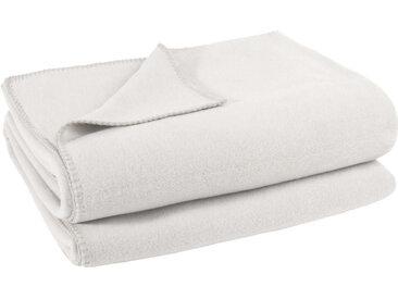 Zoeppritz WOHNDECKE Soft-Fleece 220/240 cm Weiß , Uni, 220 cm