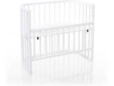 Babybay BEISTELLBETT Babybay Comfort Buche massiv Weiß , Holz, 52x79 cm