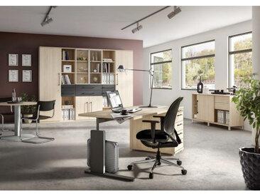 Moderano BÜRO erweiterbar, Typenauswahl, Beimöbel erhältlich Braun, 280x217.4x43 cm