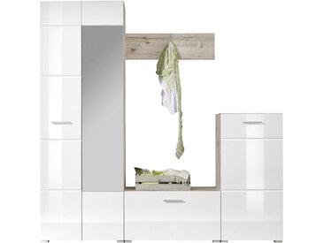 Xora GARDEROBE Weiß, Braun , Glas, 195x195x36 cm