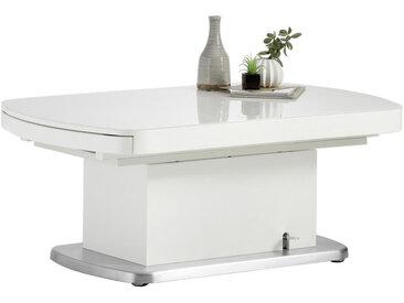 Venda COUCHTISCH rechteckig Weiß , Metall, Glas, 75x50-78 cm