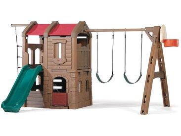XXXLutz Spielturm Adventure Lodge , Mehrfarbig, Kunststoff, 421.64x220.98x299.72 cm