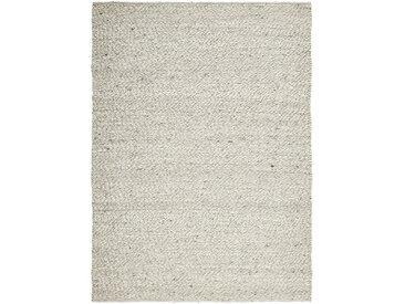Linea Beigea Wollteppich 170/230 cm Grau, Beige , Uni, 170 cm