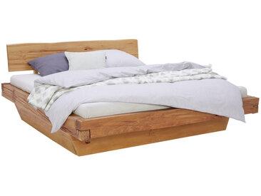 Linea Beigea BALKENBETT Buche massiv , Holz, 180 cm