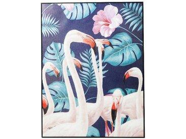 Kare-Design BILD Tiere , Mehrfarbig, Holz, Kunststoff, massiv, 92x122x0.5 cm