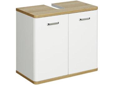 Xora WASCHBECKENUNTERSCHRANK Weiß, Braun , 0 Fächer, 60x53x33 cm