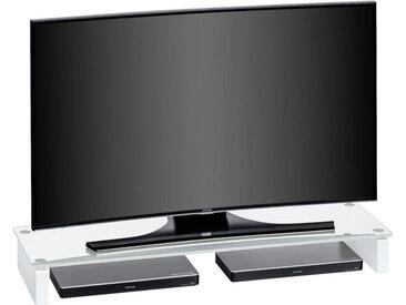 Livetastic TV-AUFSATZ Glas Weiß , 110x12.2x35 cm