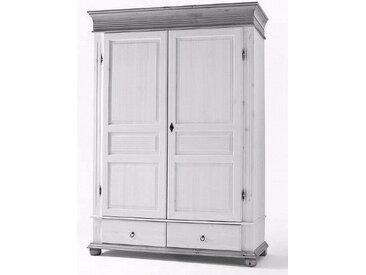 XXXLutz SCHRANK Kiefer massiv Weiß , Holz, 139x200x63 cm