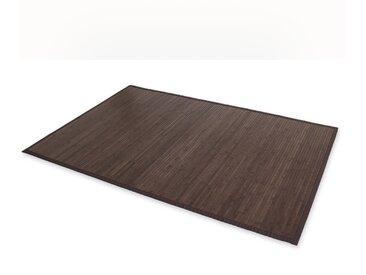Bambusmatte Bambusteppich Teppich Bambus 200x200 dunkel