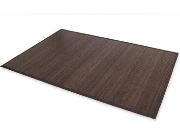 Bambusmatte Bambusteppich Teppich Bambus 120x180 dunkel