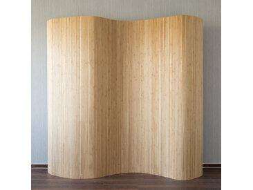 Bambus Raumteiler 200x250 cm Sichtschutz gerollt braun
