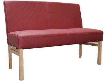 Sitzbank aus Leder 90 cm mit Holzgestell Sophie
