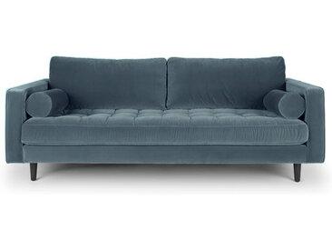 Sofa 3-Sitzer samt petrol 224 cm Merini
